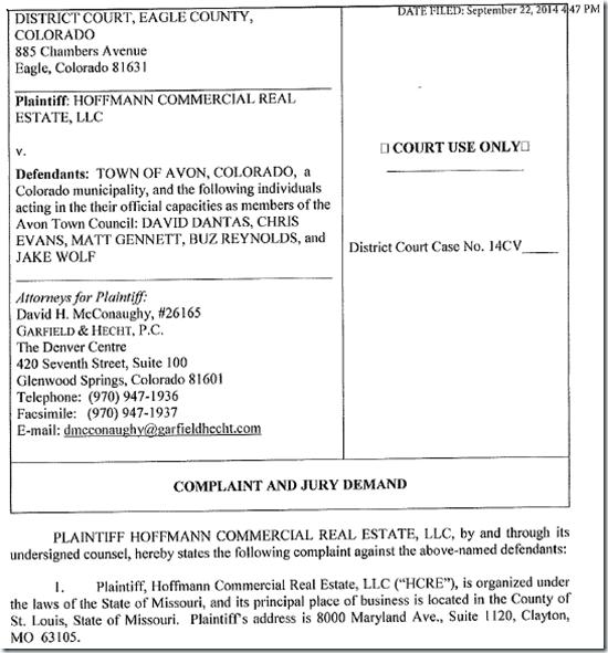 Hoffmann-Lawsuit
