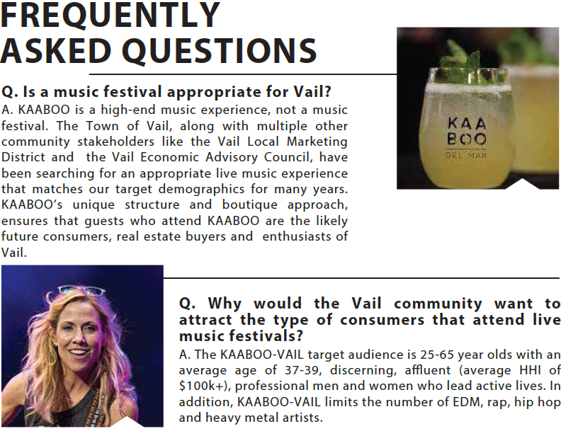 What the Heck is – KAABOO Vail? « News from Eagle County, Colorado