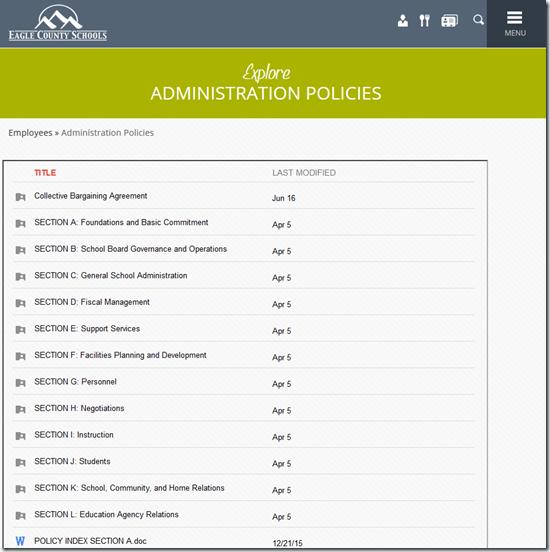 ECSD-Policies